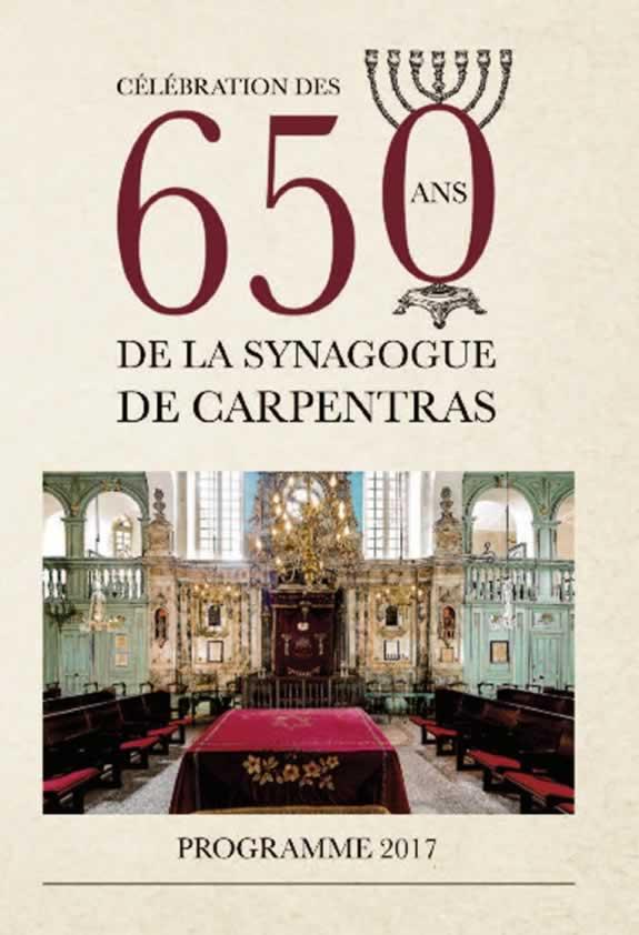 Célébration des 650 ans de la synagogue de Carpentras