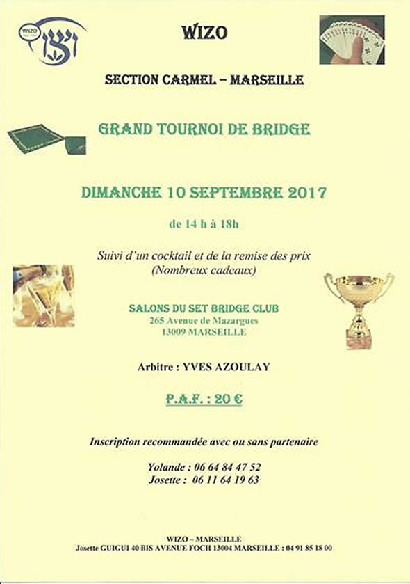 Tournoi de bridge - Wizo