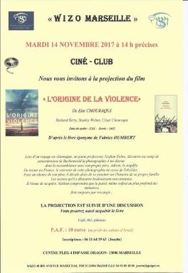 Wizo - ciné-club - Chouraqui L'origine de la violence