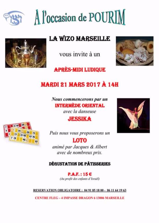 Wizo Marseille - après-midi ludique de POURIM 21 Mars